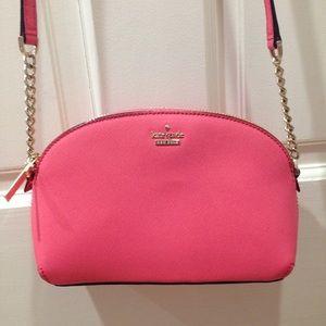 HP🎉 Kate Spade Bright Coral Pink Crossbody Purse